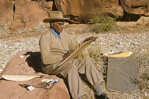 Albert Namatjira - photograph by Pastor S.O. Gross